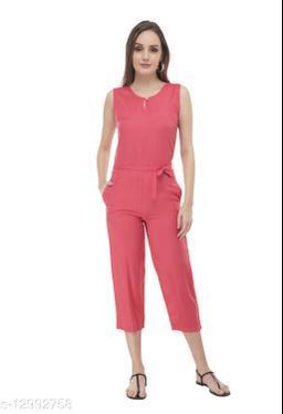 SMARTGLAM Orange Color Rayon Fabric Regular Wear Jump Suit
