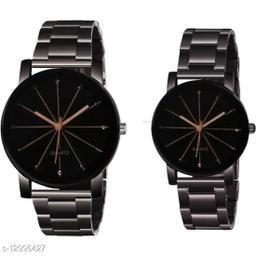 KU Crystal Chain-Couple Premium Quality Designer Fashion Wrist Analog Watch