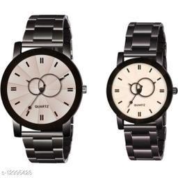 KU Crystal-Baloon-WD-Chain-Couple Premium Quality Designer Fashion Wrist Analog Watch