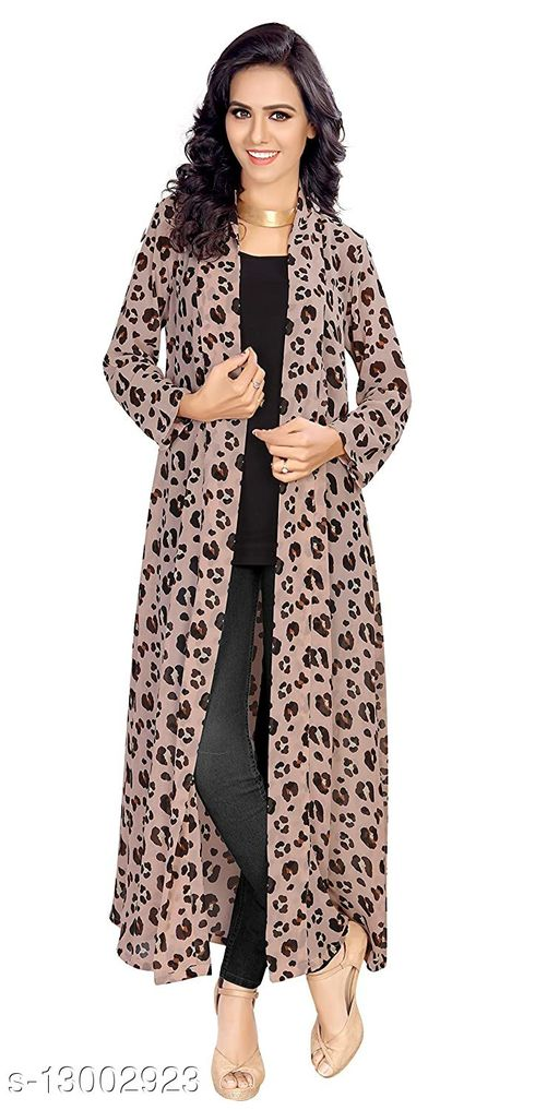 Women's Printed Blouson Georgette Coat