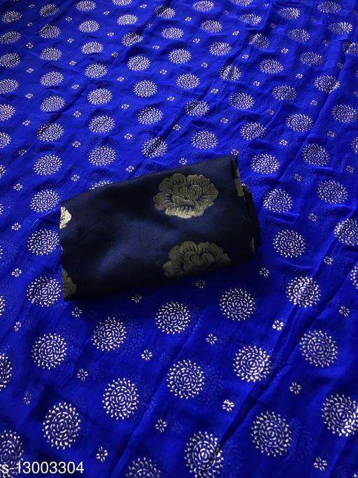 Pari Designer Naznaan Foil Print Saree With Jacquard Blouse
