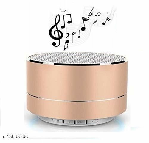A10 Mini Wireless Bluetooth Stereo Speakers Metal Body with LED Light | Supports Phone Calls While Playing | FM radio | USB | SD card |