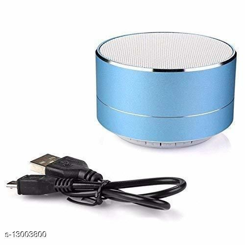 A10 Mini Wireless Bluetooth Stereo Speakers Metal Body with LED Light | Supports Phone Calls While Playing | FM radio | USB | SD card | Compatible with All Kinds of Bluetooth enabled Devices