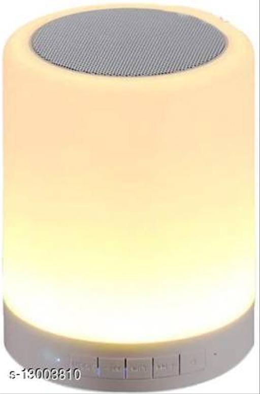 LED Cool Touch Lamp Bluetooth Speaker, Wireless HiFi Speaker Light, USB Rechargeable Portable