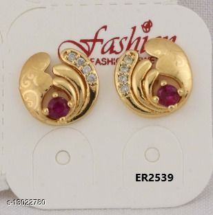 Stylish Look One Pair of Earrings GER2539SRS
