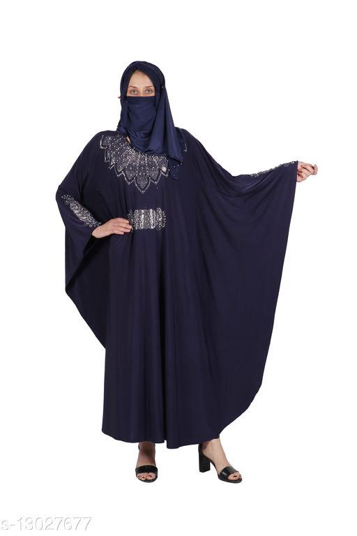 Binish Women's Stylish Lycra Fabric Abaya Burkha