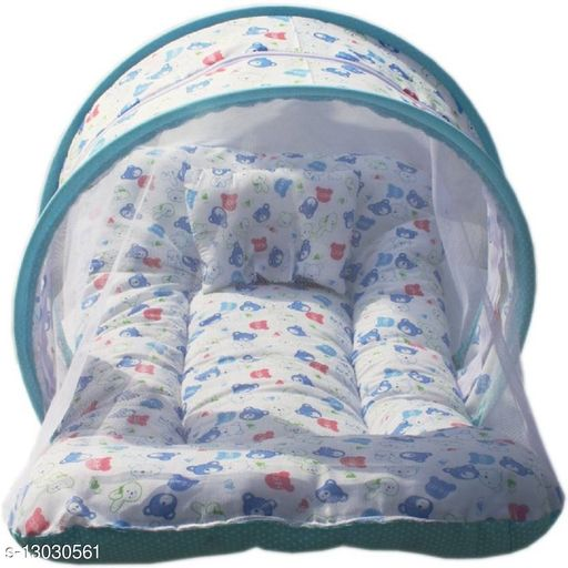 Fashionable Infant cotton bedding setwith mosquito net