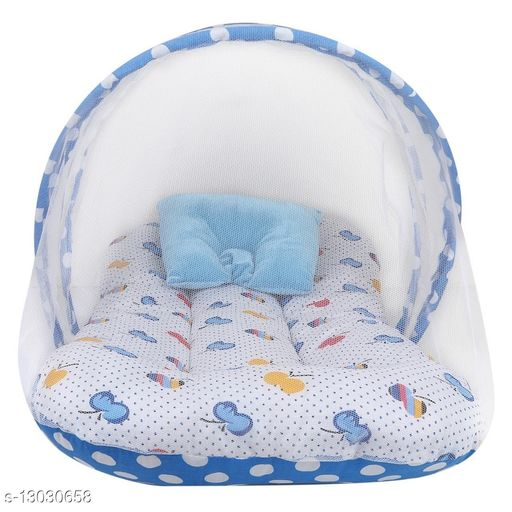 Attractive baby cotton bedding set with mosquito net