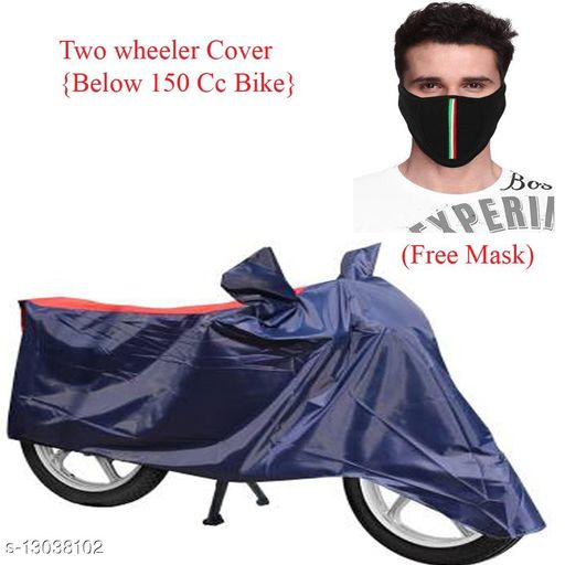 Other  Red & Black Bike Cover Combo With Free Mask For CBR 150R  Product name: Red & Black Bike Cover Combo With Free Mask For CBR 150R Material: Polyster Add on : Mask  Size: Free size Description: Mask Fabric - Cotton  Mask size - Free Size  Cover Size - Free Size Country of Origin: India Sizes Available: Free Size *Proof of Safe Delivery! Click to know on Safety Standards of Delivery Partners- https://ltl.sh/y_nZrAV3   Catalog Name: Bike Matty Bike Cover  CatalogID_2540633 C107-SC1806 Code: 482-13038102-