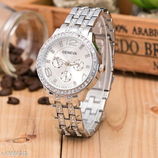 MissPerfect Silver Diamond Crono Women Watch