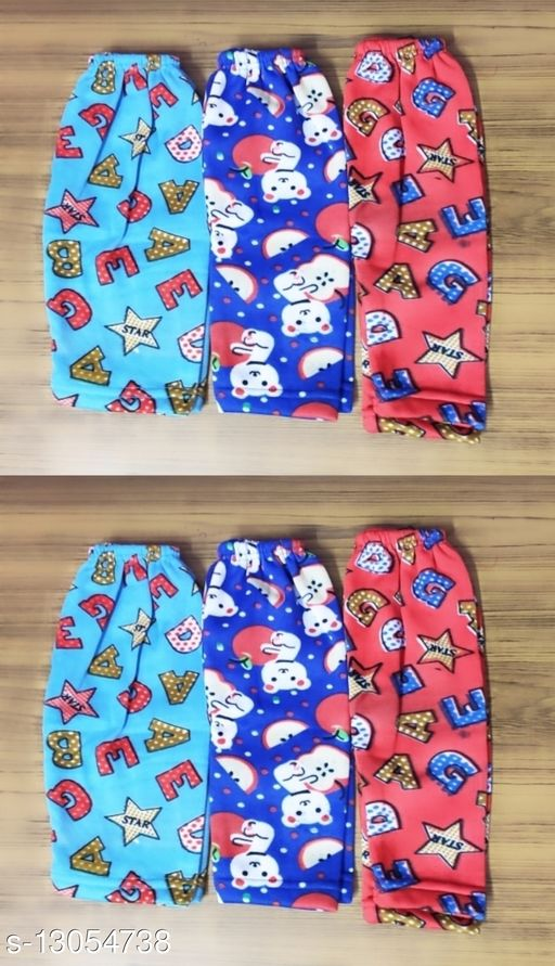 6 Pc Kids Woolen Printed Pajama Best Collection For Winter Wear ( Color May Very )