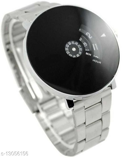Bolun Black Dial Stainless Still Strap Couple Watch For Boys And Girls Analog Watch