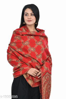 Women's Paisley All over Wollen Shawl, Wraps