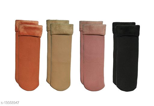 ARNAH  TREASURE Warm Ankle Length Socks Women/Girls Winter Socks (Set of 4 Pairs)