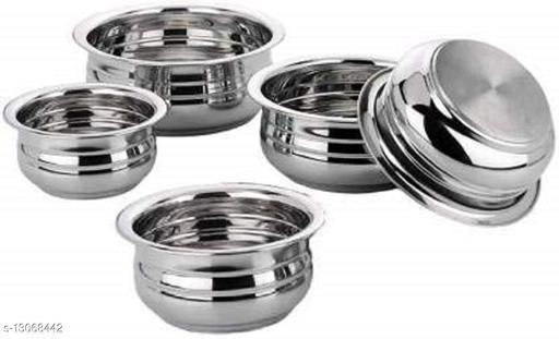 Stainless Steel urli Handi set of 5 piece(1750 ML, 1450 ML, 950 ML, 700 ML, 400 ML)