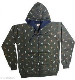 Trendy Hoody Neck Printed Girl Sweat Shirt