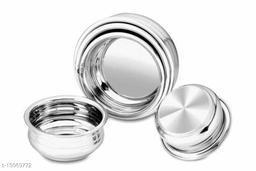 Stainless Steel urli Handi/Pot Pan/Cookware set of 5 piece(1750 ML, 1450 ML, 950 ML, 700 ML, 400 ML)