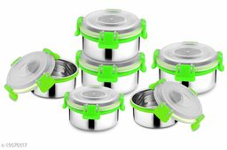 Betools4Me2 Stainless Steel Bowls/Containers Air-Tight with Lock n Lock Lid (300 ml) - Set of 2