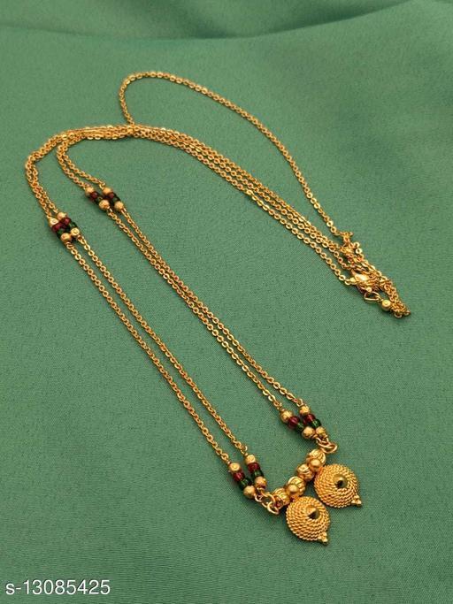 new trendy women's stylish gold plated mangalsutra