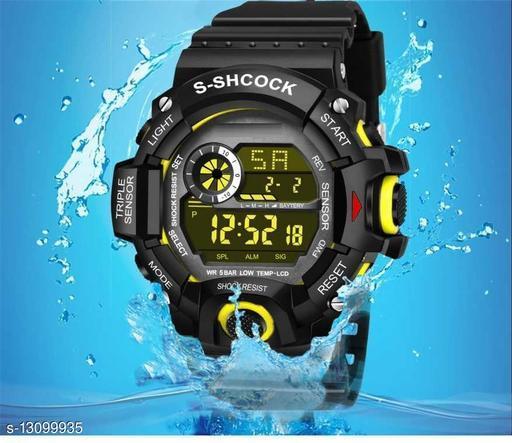Skylark Digital Yellow Excellent 7 light Watch For boys Digital Watch - For Men Awesome Digital watch Digital Watch - For Boys