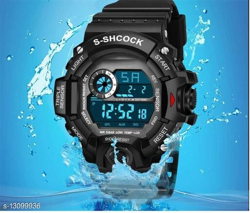 Skylark Digital Black Excellent 7 light Watch For boys Digital Watch - For Men Awesome Digital watch Digital Watch - For Boys