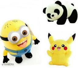 Pikachu Minion & Panda Soft toy