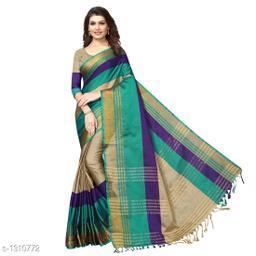 Trendy Poly Cotton Saree