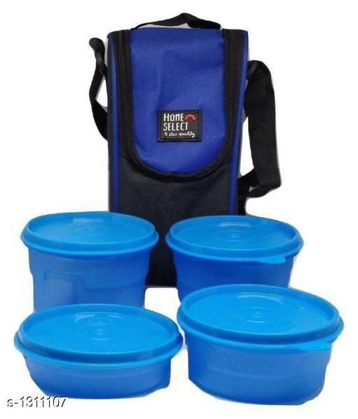 Lunch Boxes Assorted Home Accessories  *Material* Plastic  *Description* It Has 4 Pieces Of  Lunch Box  *Sizes Available* Free Size *   Catalog Rating: ★3.3 (4)  Catalog Name: Exquisite Assorted Home Accessories Vol 6 CatalogID_167650 C130-SC1260 Code: 983-1311107-