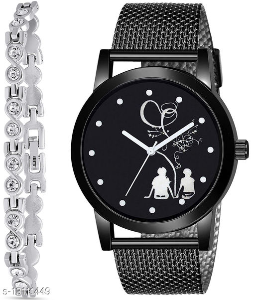 J2 & K182 Attractive Combo With One jewellery And Atterective watch For jewellery & Men