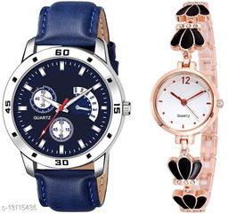 K144 & L791 Attractive Combo With One Leather Belt Watch And New Atterective watch For jewellery & Women