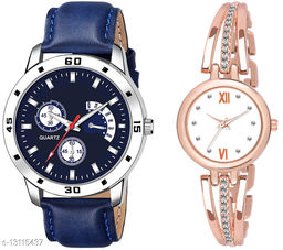 K144 & L796 Attractive Combo With One Leather Belt Watch And New Atterective watch For jewellery & Women