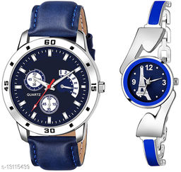 K144 & L810 Attractive Combo With One Leather Belt Watch And New Atterective watch For jewellery & Women