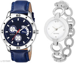 K144 & L822 Attractive Combo With One Leather Belt Watch And New Atterective watch For jewellery & Women