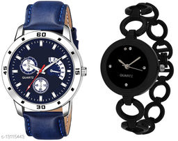 K144 & L821 Attractive Combo With One Leather Belt Watch And New Atterective watch For jewellery & Women