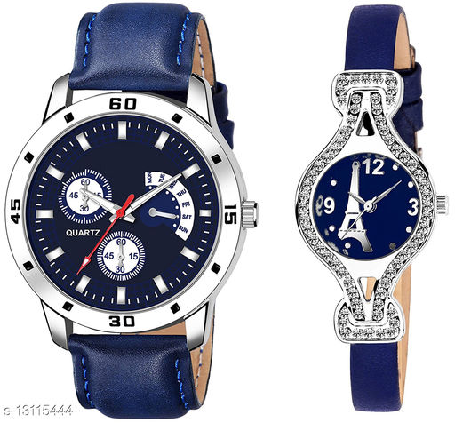 K144 & L809 Attractive Combo With One Leather Belt Watch And New Atterective watch For jewellery & Women