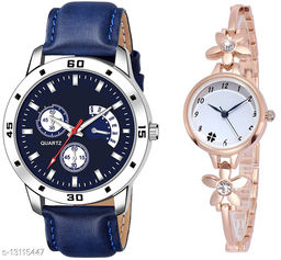 K144 & L793 Attractive Combo With One Leather Belt Watch And New Atterective watch For jewellery & Women