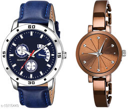 K144 & L788 Attractive Combo With One Leather Belt Watch And New Atterective watch For jewellery & Women