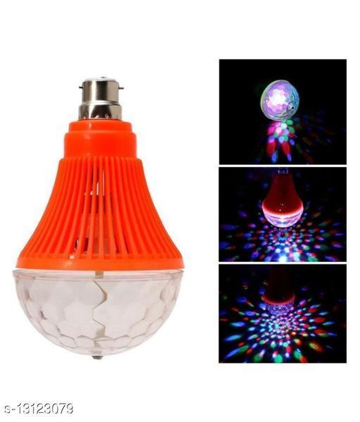 Crystal Disco LED Big Rotating Bulb Light Single Disco Ball Assorted Colour (Ball Diameter: 10 cm)  (Pack of 1)