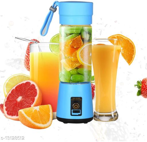 Plastic with Stainless Steel Blade Wireless Rechargeable Mini Automatic Electric Juicer Bottle