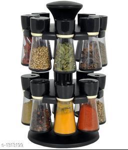 Useful jar spice rack(Black)