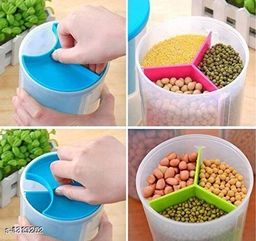 3 section dispenser container set