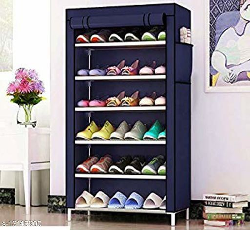 Aysis Multicolored 4 Layer Shoe Rack Stand
