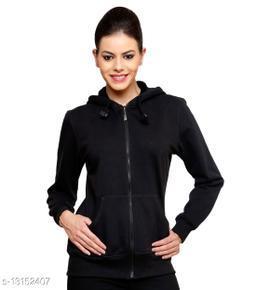 Ansh Fashion Wear Women's Sweatshirt With Hoodie