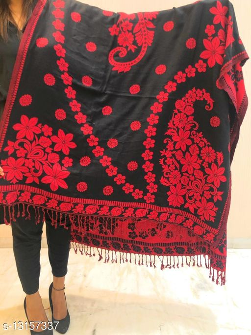 Women Kashmiri Floral Shawl