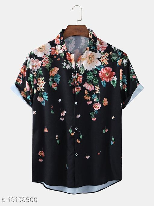 Ethnic Floral Print Loose Casual Shirts(Stiched Size-M)