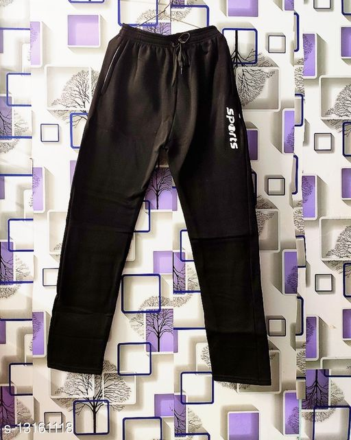 Men's Smart Fit Woolen Gym Lower/ Jogers Pant/ Track Pant/ Pajama Black