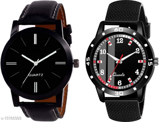 K414 & K490 Two watch Combo With One Leather Belt Watch And Atterective watch For Men & Men
