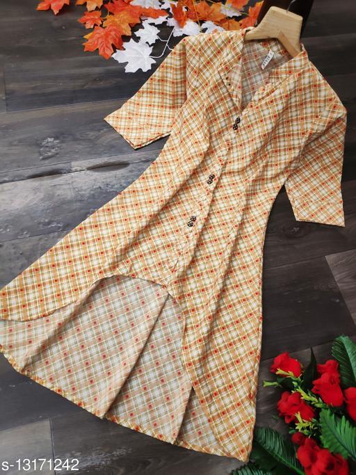 Avantika Fashion Printed high-low dress for women's or girl's