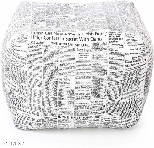 Ink Craft Bean Bag Without Beans(Paperr Print,XL)