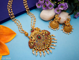 Allure Gold Plated Peacock Women's Jewellery Set